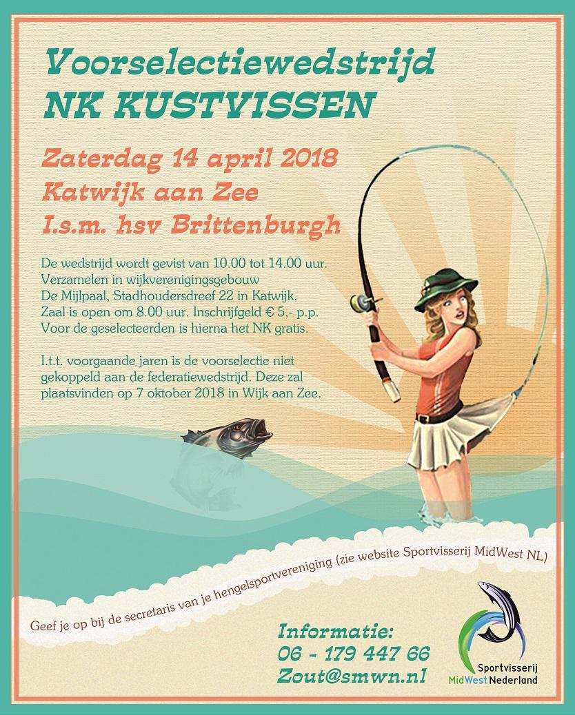 Voorselectiewedstrijd NK Kustvissen